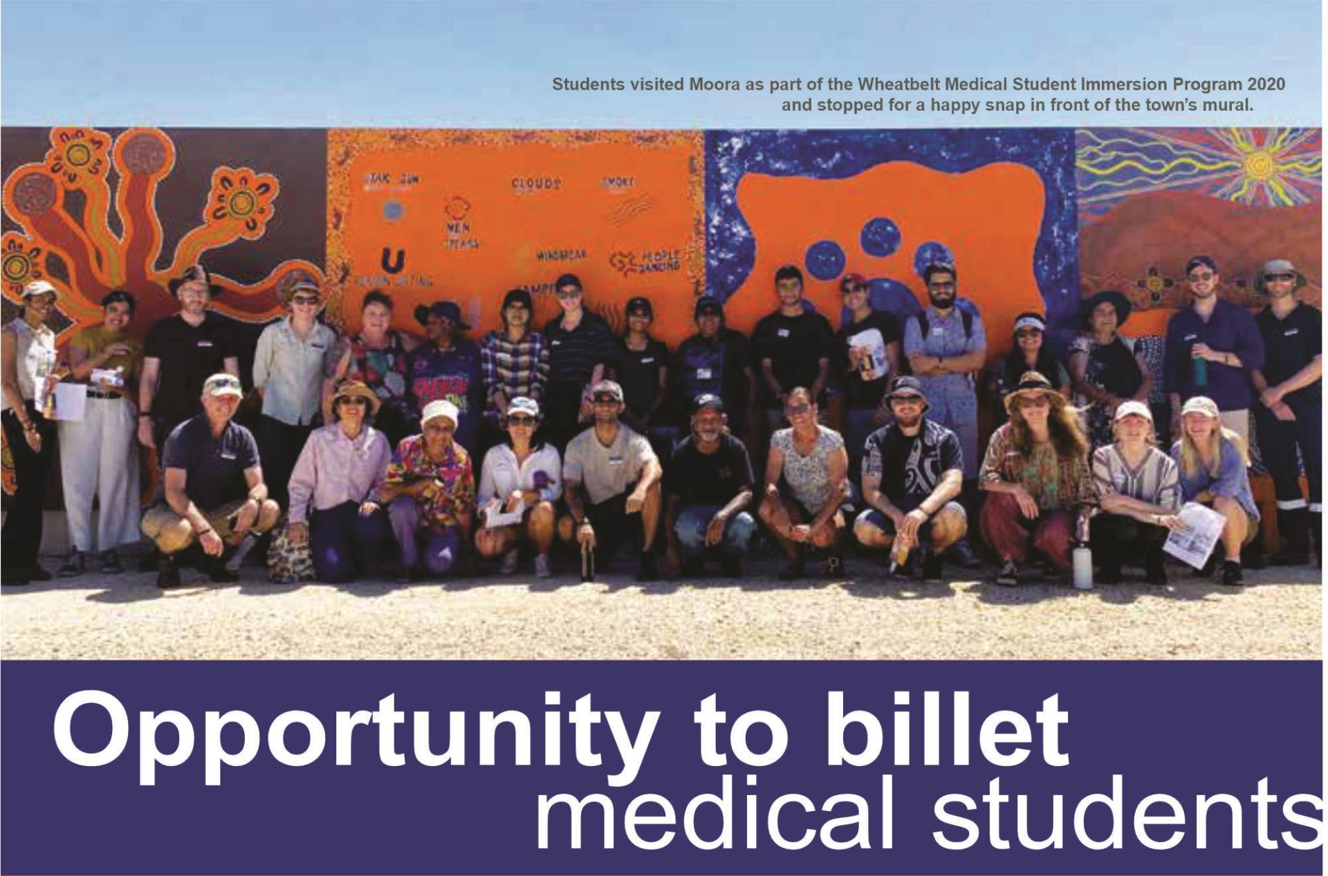 Opportunity to Billet Medical Students