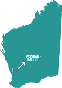 Map of Wongan-Balidu